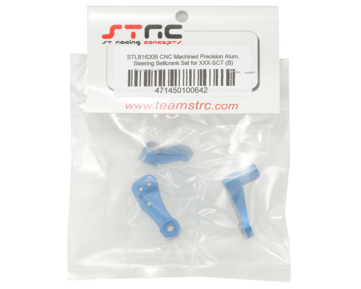 ST Racing Concepts Aluminum Steering Bellcrank Set (Blue)