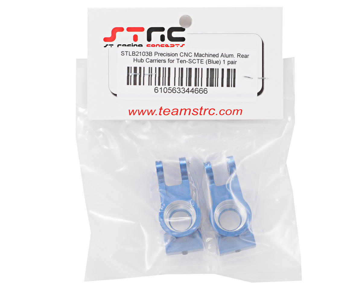 ST Racing Concepts Aluminum Rear Hub Carrier Set (Blue) (2)