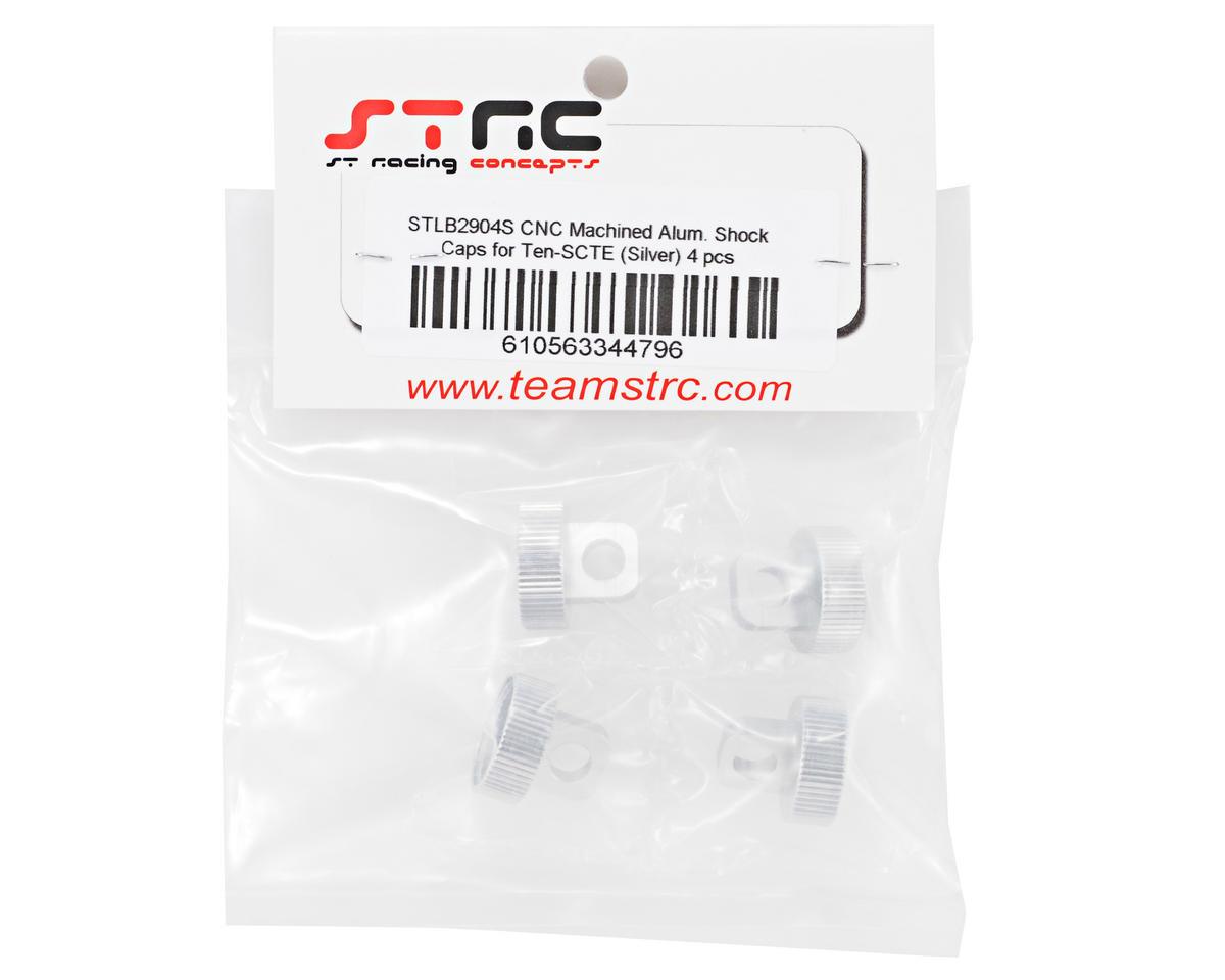 ST Racing Concepts Aluminum Shock Cap Set (Silver) (4)
