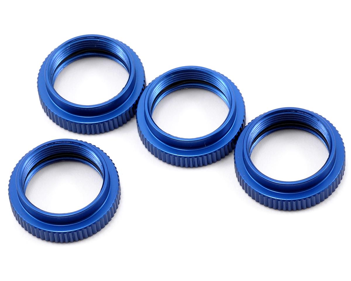Aluminum Shock Collar Set (Blue) (4) by ST Racing Concepts