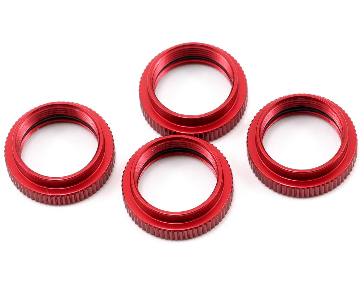 ST Racing Concepts Aluminum Shock Collar Set (Red) (4)