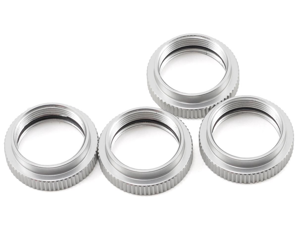 ST Racing Concepts Aluminum Shock Collar Set (Silver) (4)