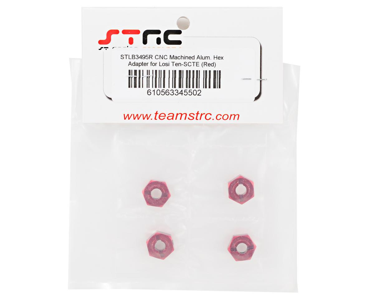 ST Racing Concepts Aluminum Hex Adapter Set (Red) (4)