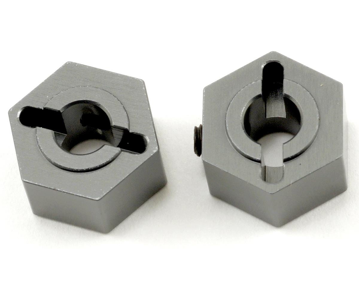ST Racing Concepts Aluminum Rear Hex Adapters (Gun Metal) (2)