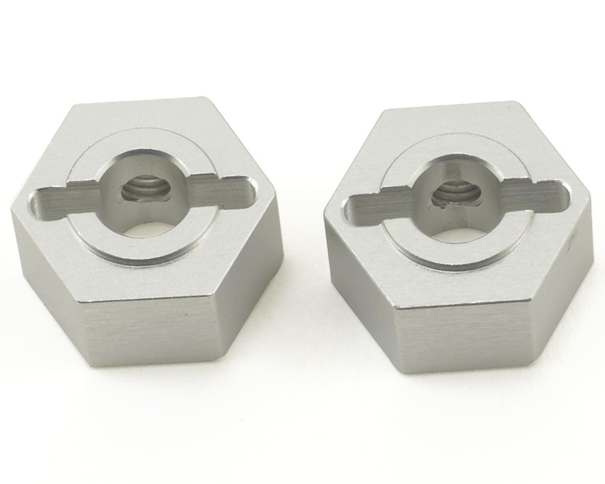Aluminum Rear Hex Adapters (Silver) (2) by ST Racing Concepts