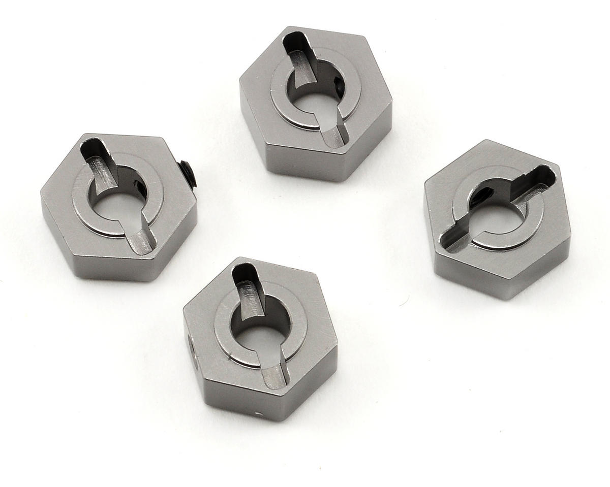 12mm Aluminum Hex Adapters (Gun Metal) (4) by ST Racing Concepts
