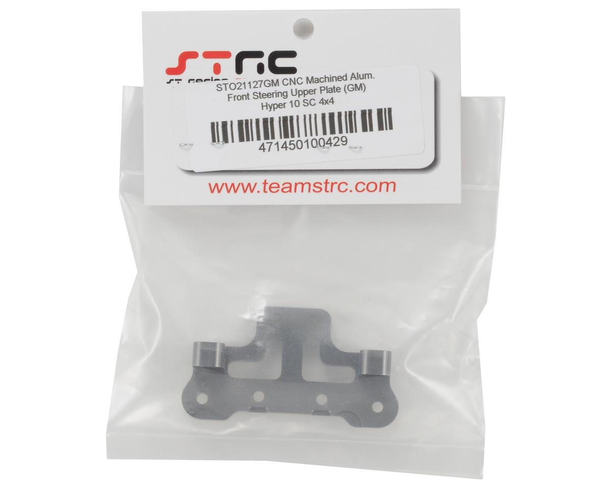 ST Racing Concepts Aluminum Front Steering Upper Plate (Gun Metal)