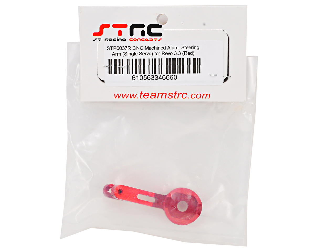 Aluminum Single Steering Servo Saver Arm (Red) by ST Racing Concepts