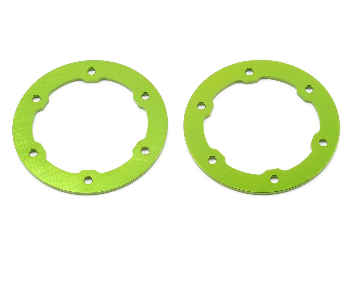 ST Racing Concepts Aluminum Beadlock Rings (Green) (2)