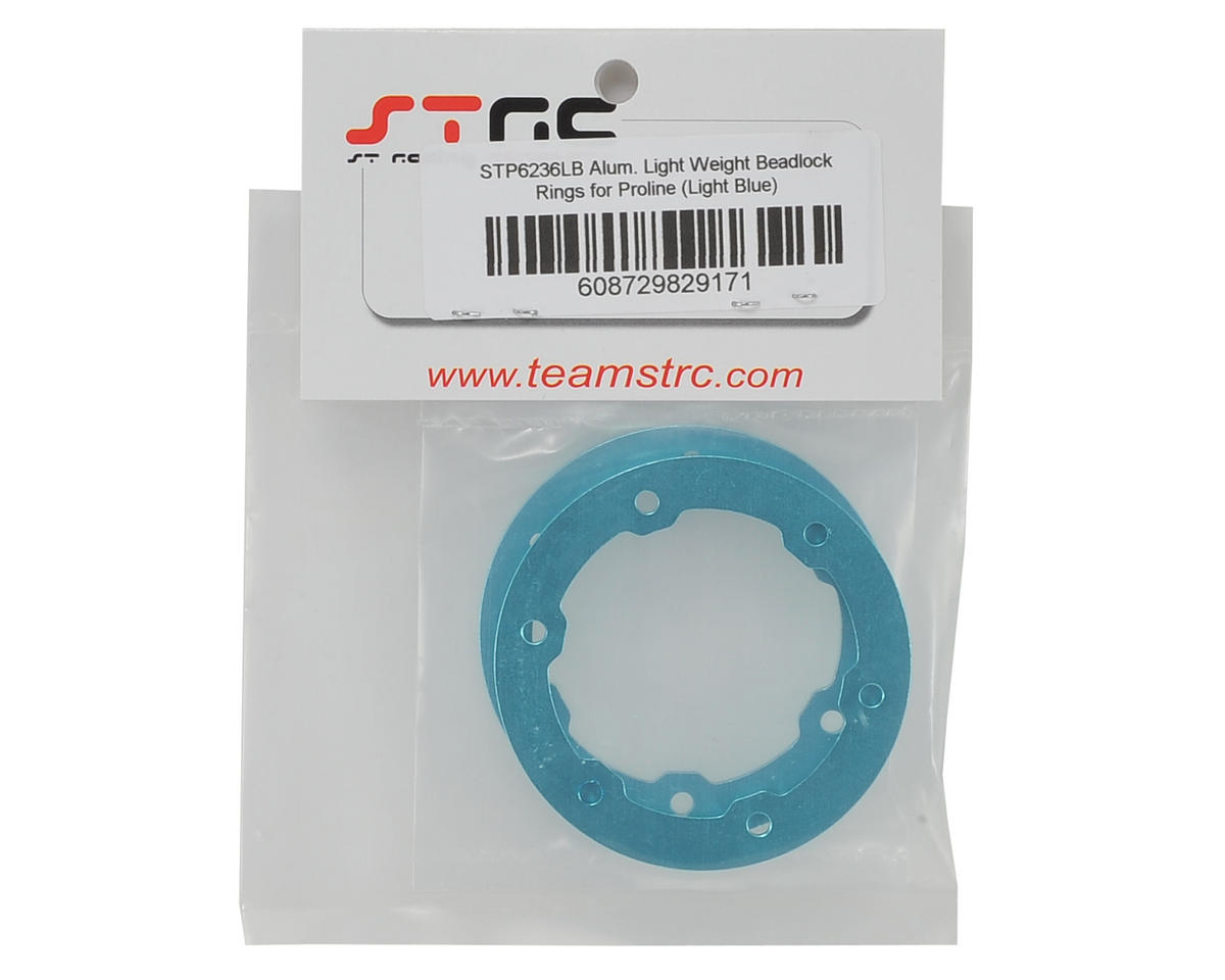 ST Racing Concepts Aluminum Beadlock Rings (Light Blue) (2)