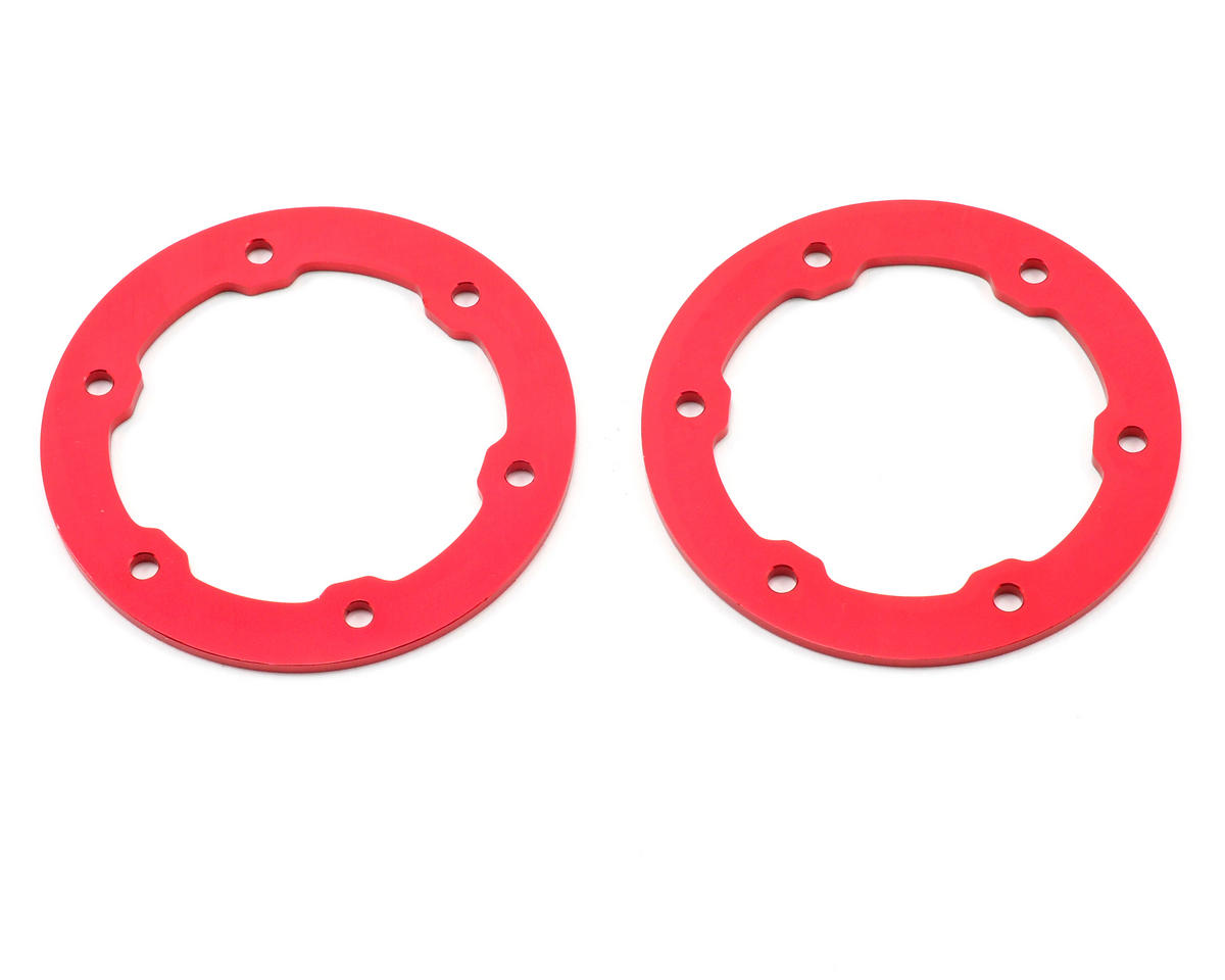 ST Racing Concepts Aluminum Beadlock Rings (Red) (2) (Traxxas Slayer)