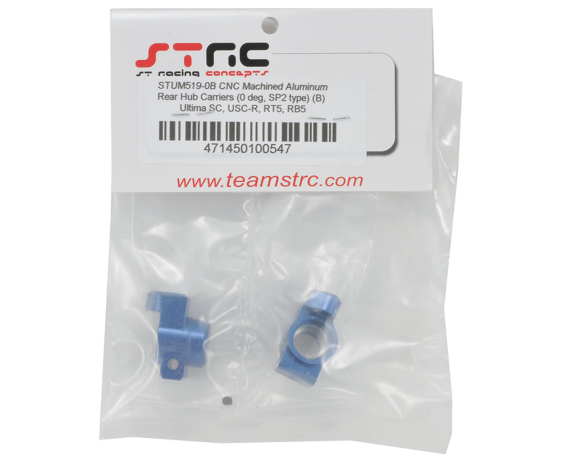 ST Racing Concepts 0° SP2 Style Aluminum Rear Hub Carrier Set (Blue)