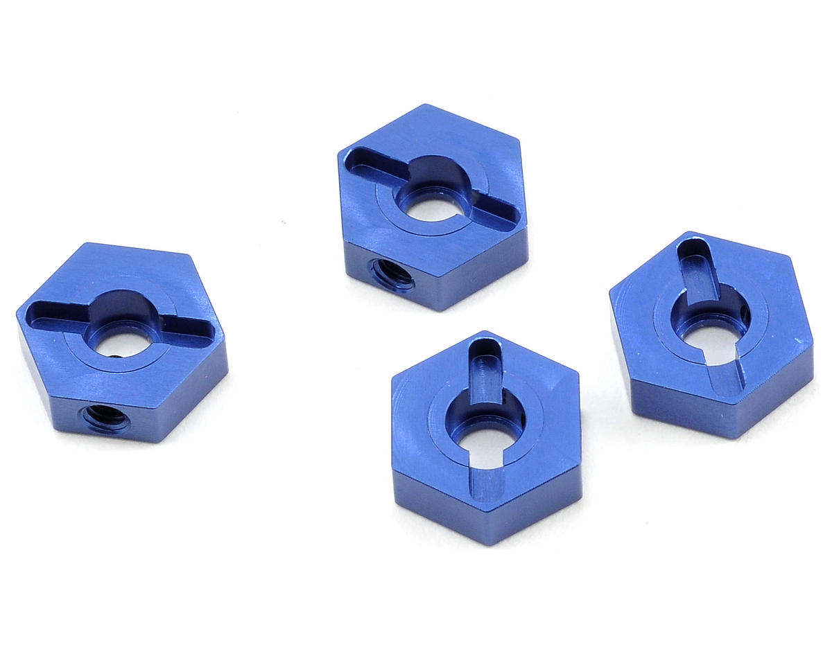 ST Racing Concepts Aluminum Hex Adapter Set (Blue) (4)