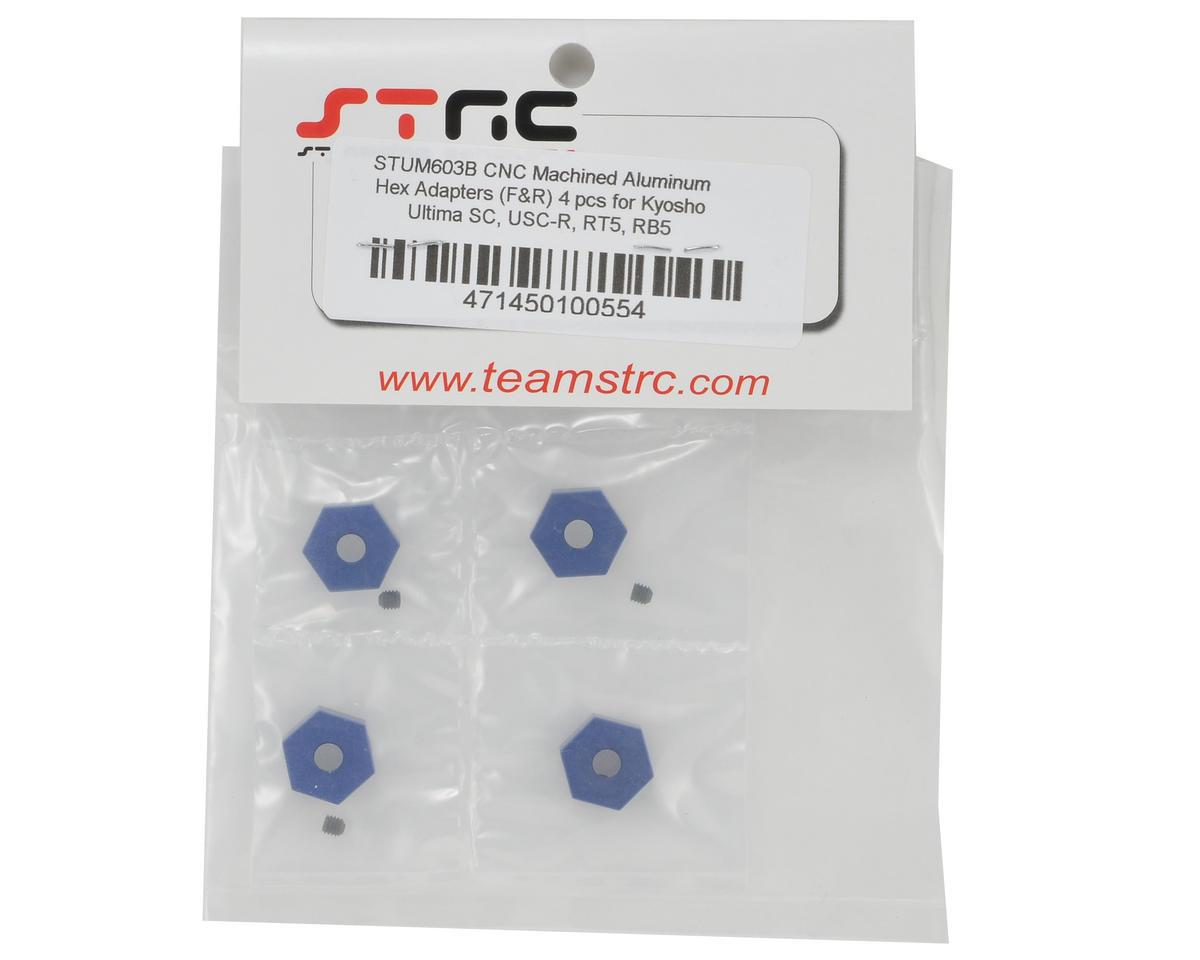 ST Racing Concepts Aluminum Hex Adapter Set (Blue) (4)