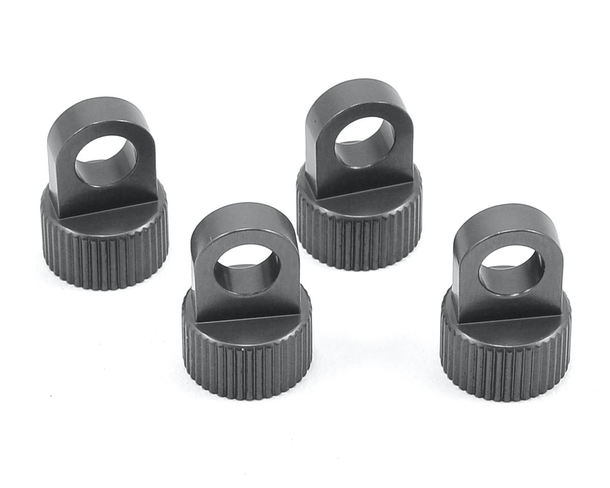 ST Racing Concepts Vaterra Ascender Aluminum Upper Shock Caps (4) (Gun Metal)