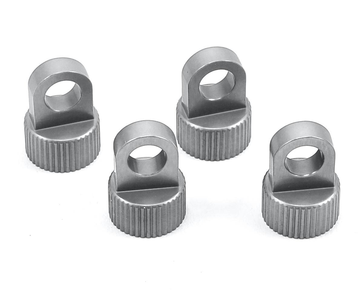 ST Racing Concepts Vaterra Ascender Aluminum Upper Shock Caps (4) (Silver)