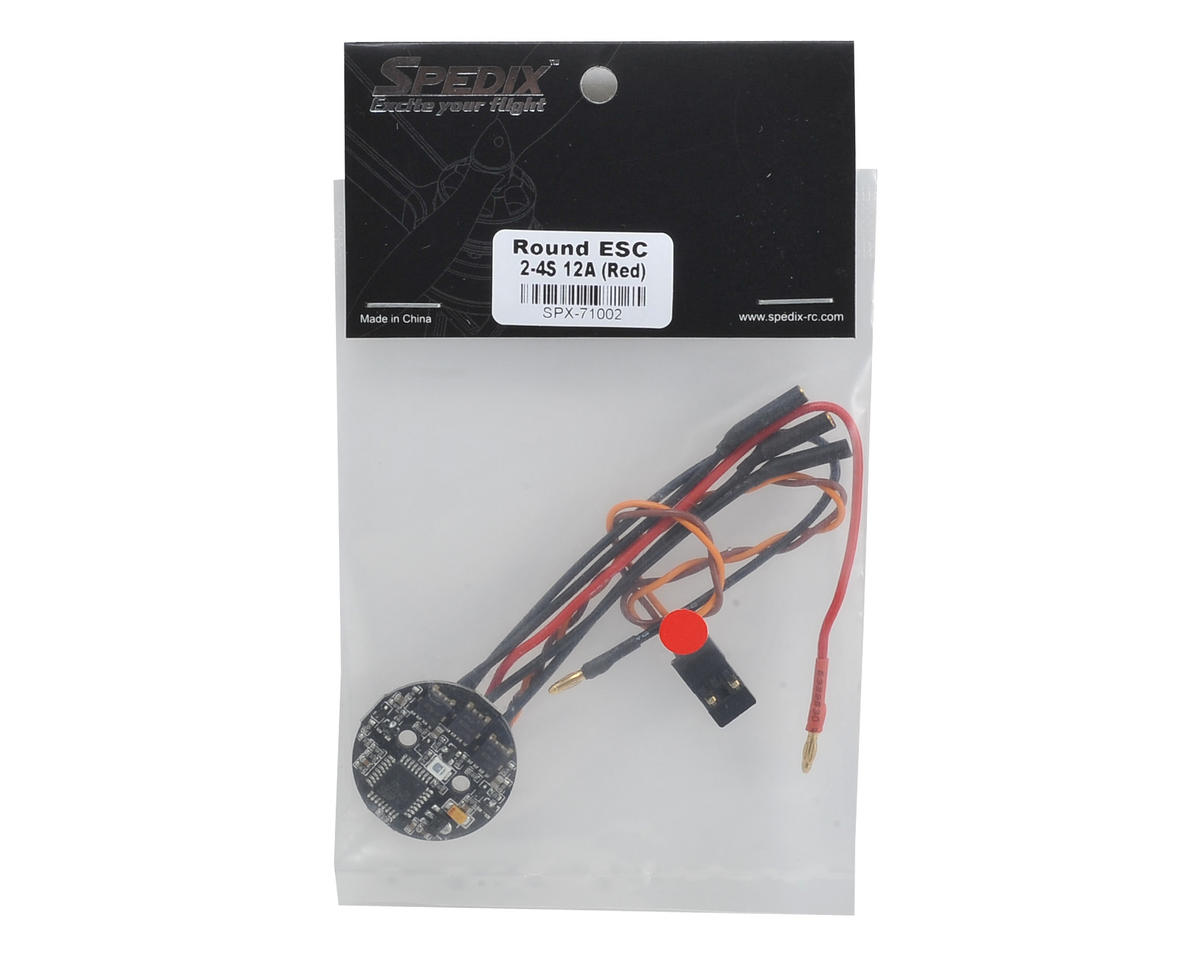 Spedix Round 12A SimonK ESC w/Red LED