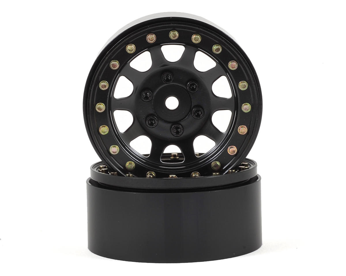"D Hole 1.9"" Steel Beadlock Crawler Wheels (Black) (2) by SSD RC"