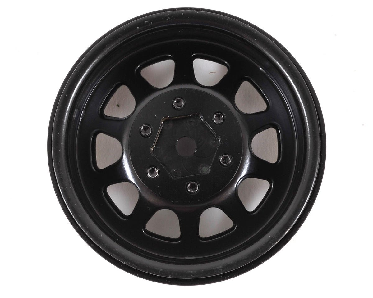 SSD RC D Hole 1.9 Steel Beadlock Crawler Wheels (Black) (2)