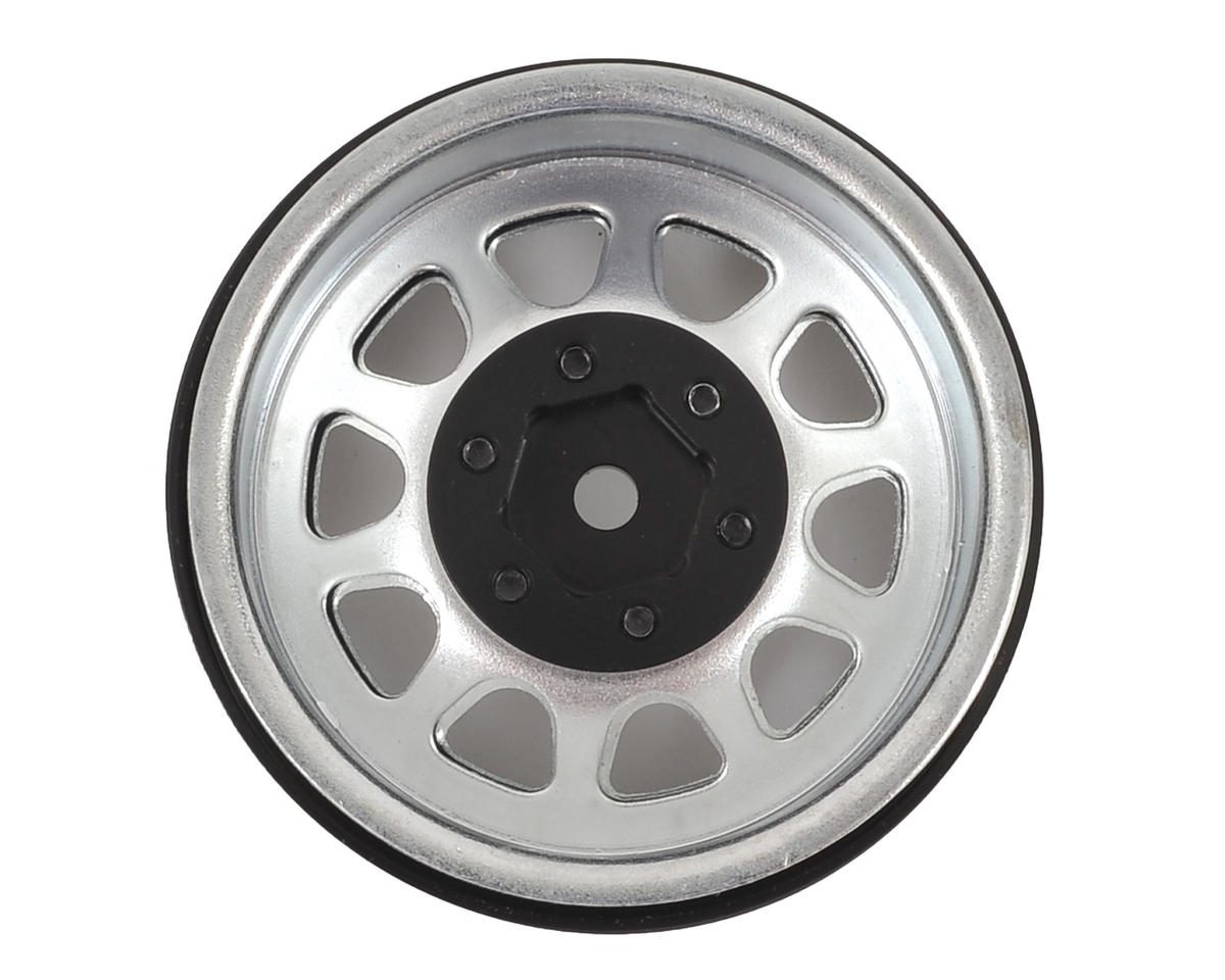 "SSD RC D Hole 1.9"" Steel Beadlock Crawler Wheels (Silver) (2)"