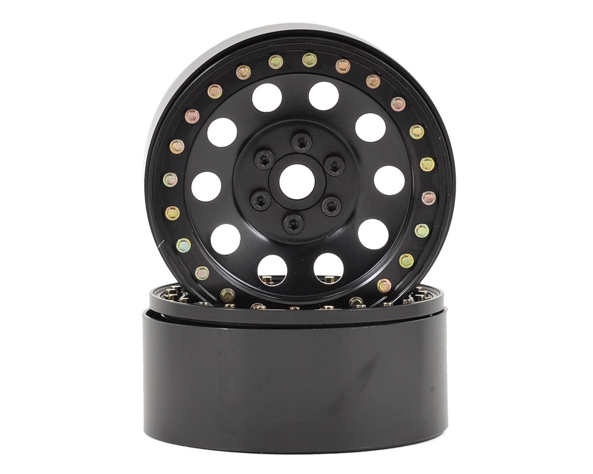 "SSD RC 10 Hole 2.2"" Steel Beadlock Crawler Wheels (Black) (2)"