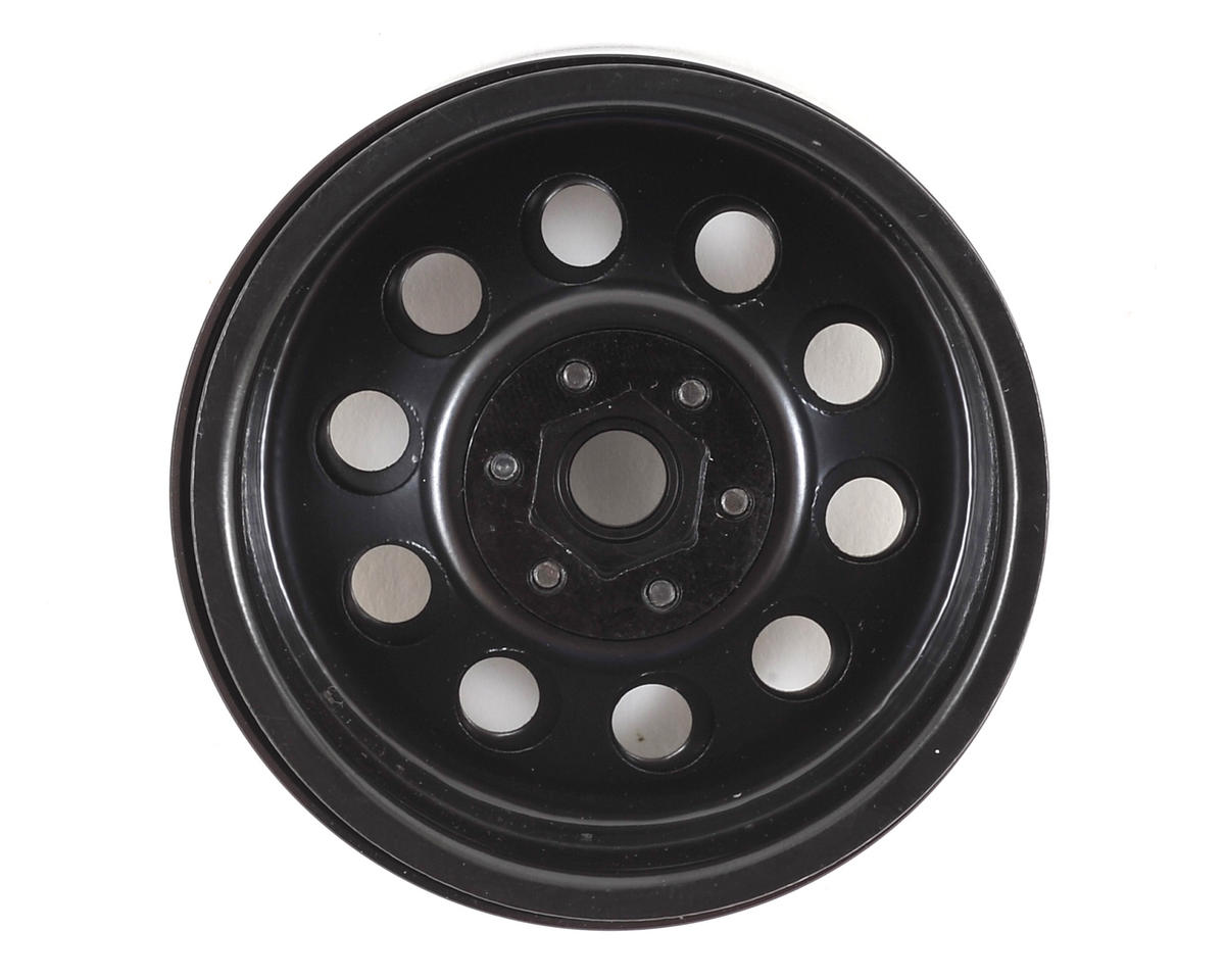 "SSD RC 10 Hole 2.2"" Steel Beadlock Crawler Wheels (Black) (2)"