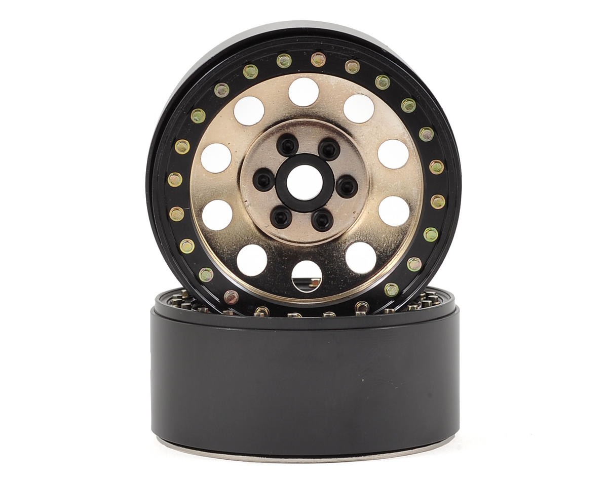 "SSD RC 10 Hole 2.2"" Steel Beadlock Crawler Wheels (Silver) (2)"