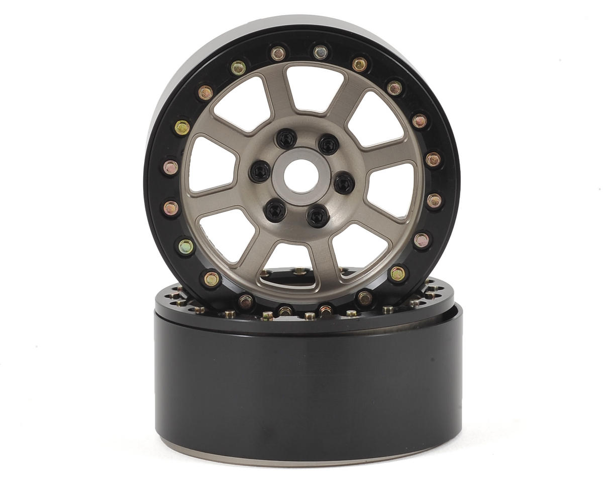 "SSD RC Assassin 2.2"" Beadlock Crawler Wheels (Grey) (2)"