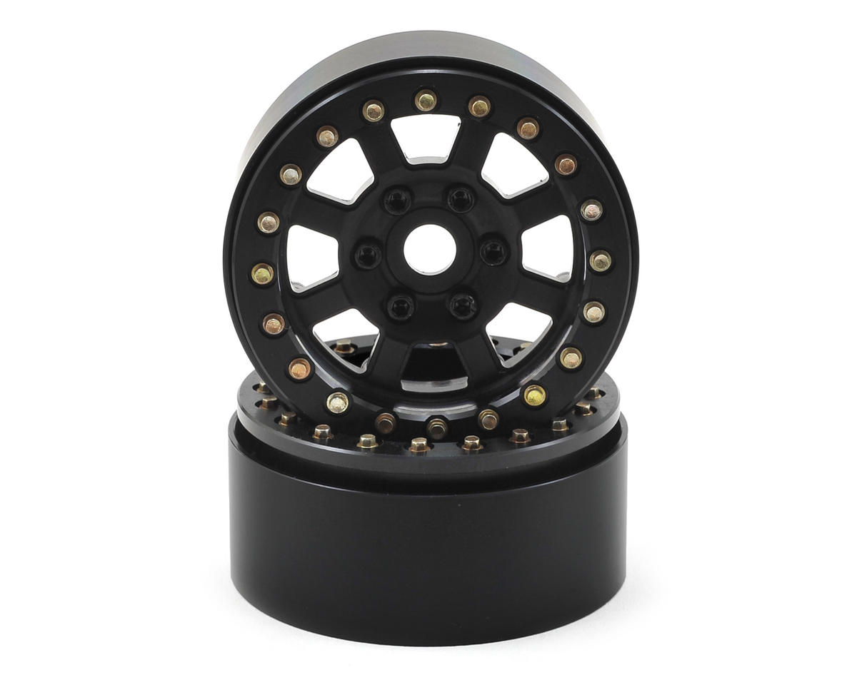 SSD RC Assassin 1.9 Beadlock Crawler Wheels (Black) (2)