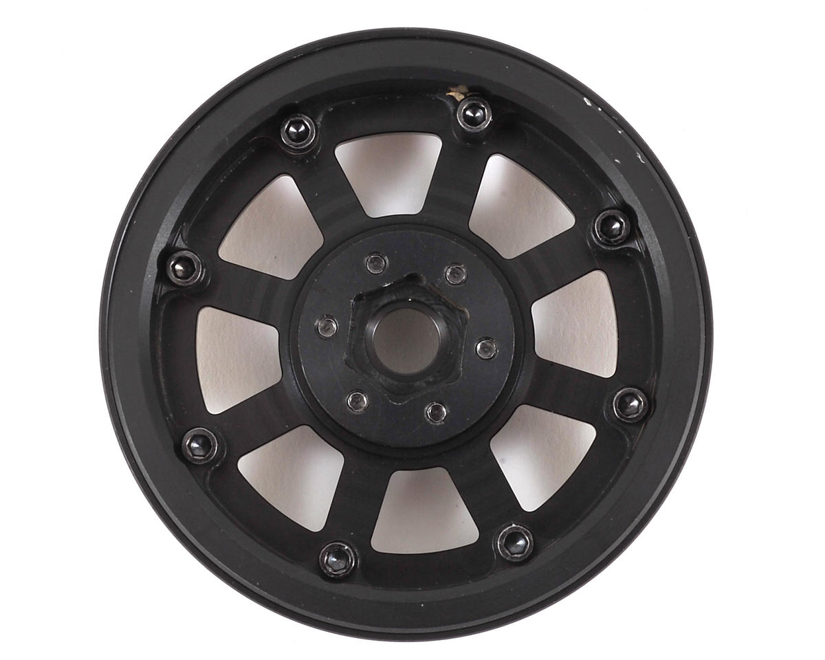 "SSD RC Assassin 2.2"" Beadlock Crawler Wheels (Black) (2)"