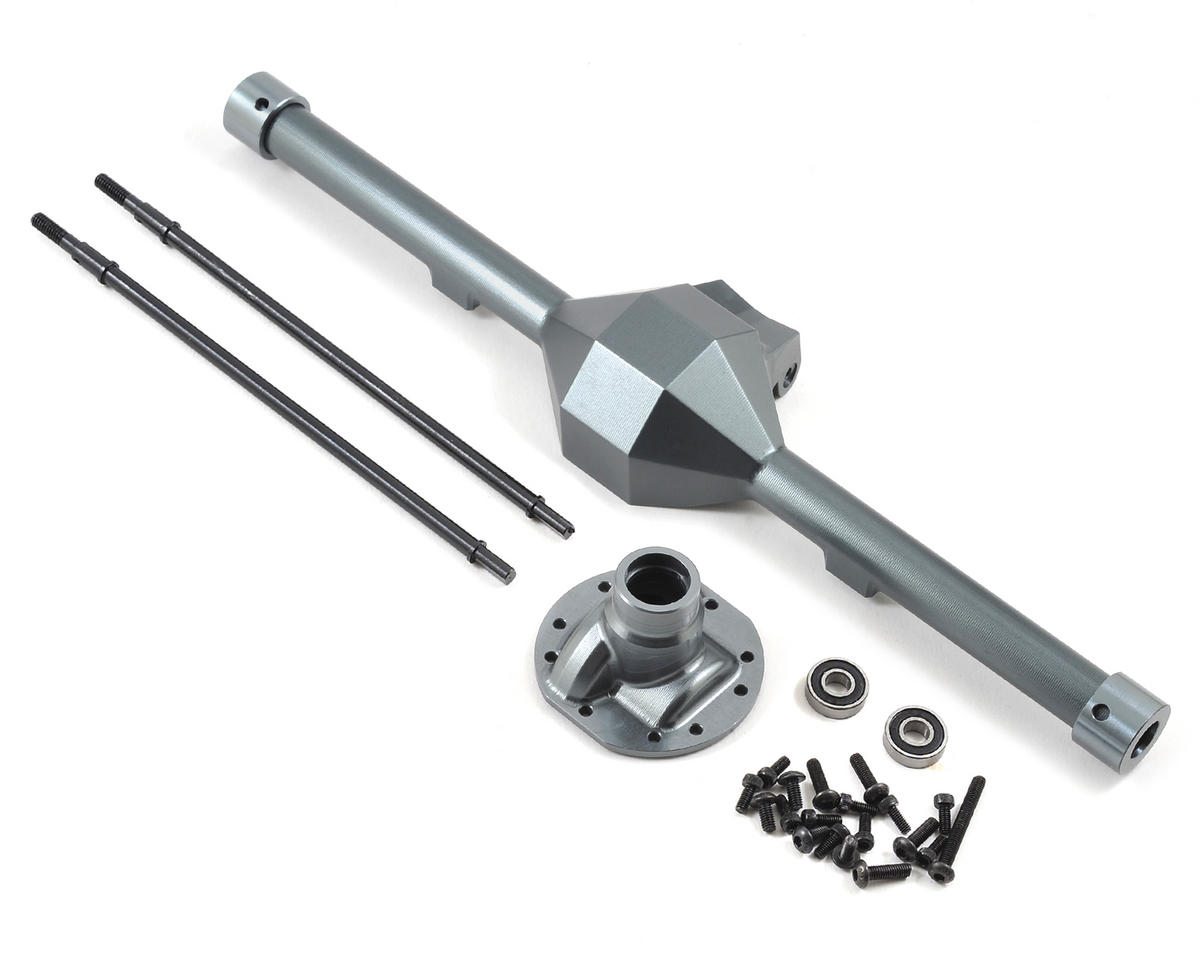 Yeti Wide Diamond Centered Rear Axle (Grey) by SSD RC