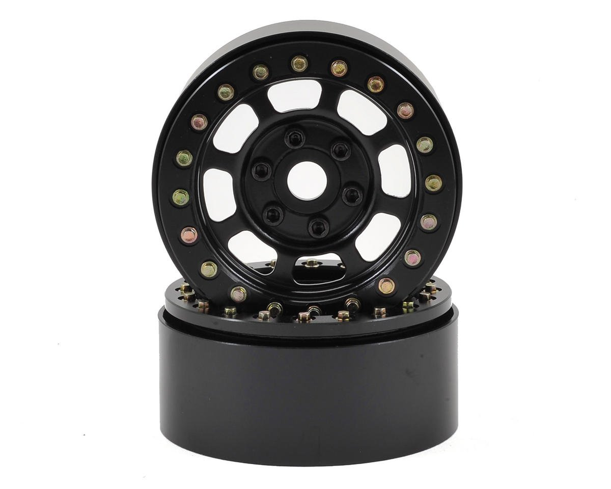 "Trail 1.9"" Steel Beadlock Crawler Wheels (Black) (2) by SSD RC"