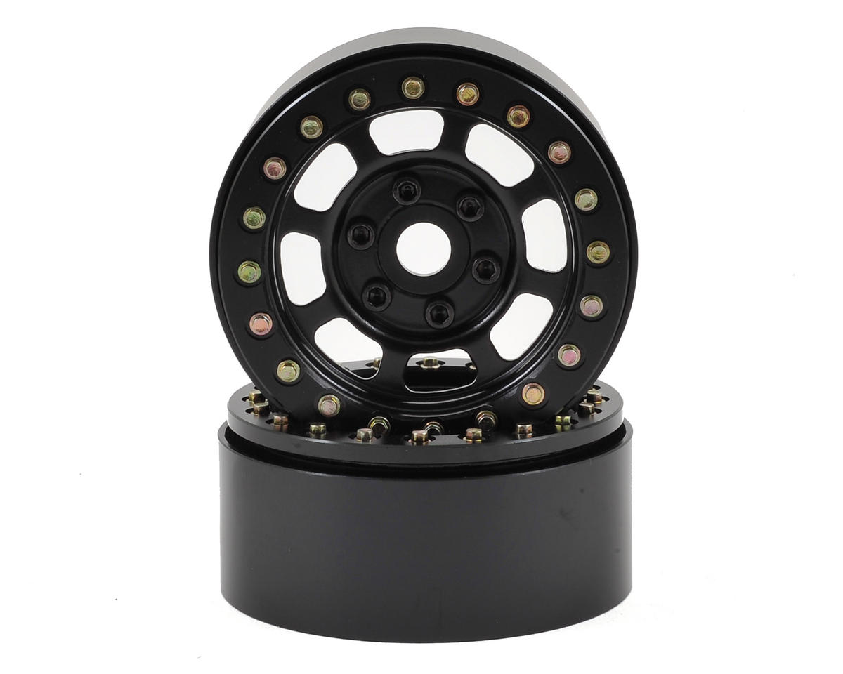 "SSD RC Trail 1.9"" Steel Beadlock Crawler Wheels (Black) (2)"