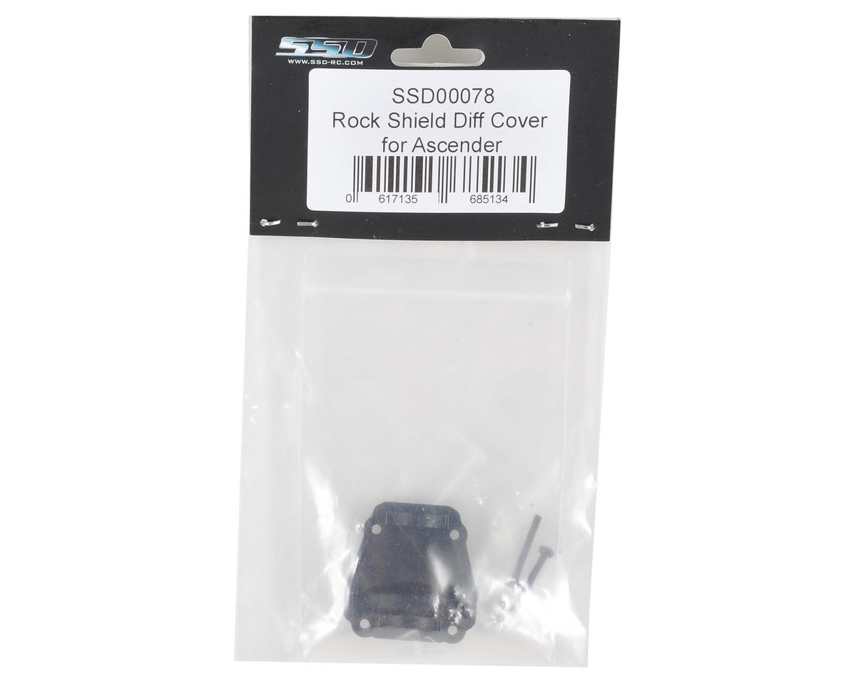 SSD RC Ascender Rock Shield Differential Cover (Black)