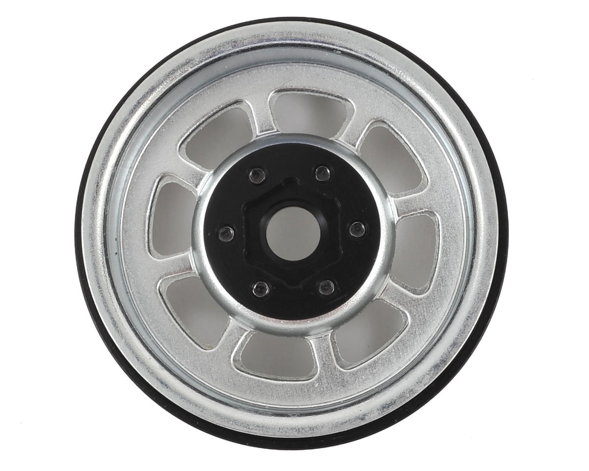 "SSD RC Trail 1.9"" Steel Beadlock Crawler Wheels (Silver) (2)"