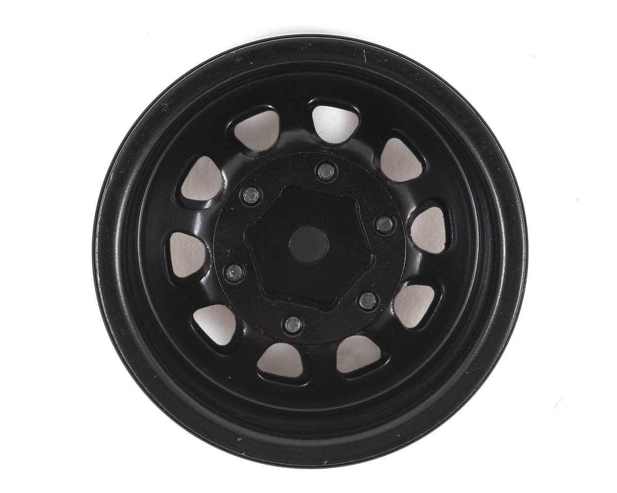 "SSD RC D Hole 1.55"" Steel Beadlock Crawler Wheels (Black) (2)"