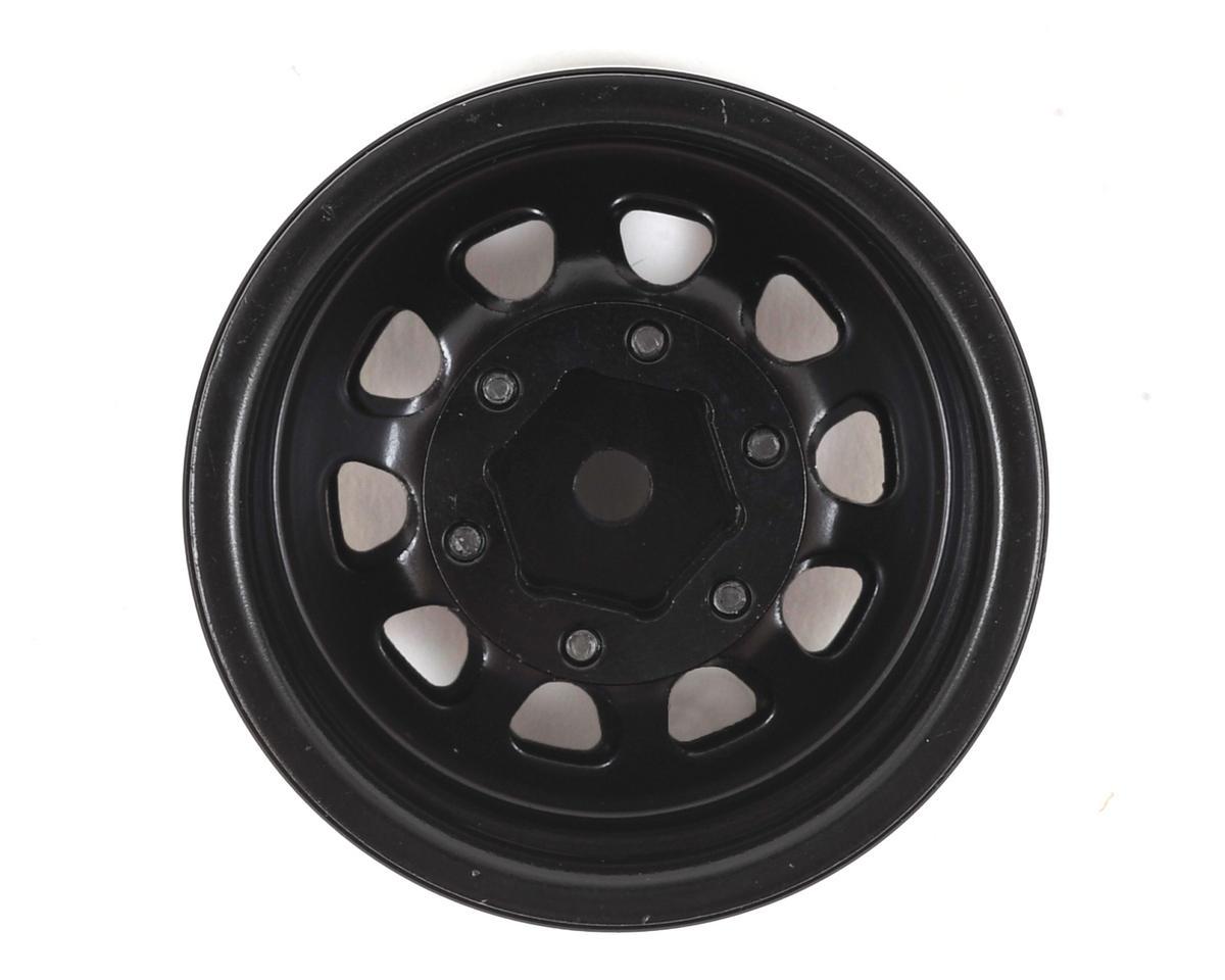 "SSD RC D Hole 1.55"" Steel Beadlock Crawler Wheels (Black) (2)"