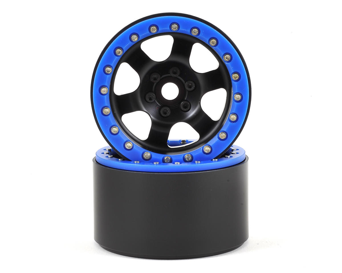 "SSD RC Rock Racer 2.2"" Beadlock Crawler Wheels (Black) (2)"