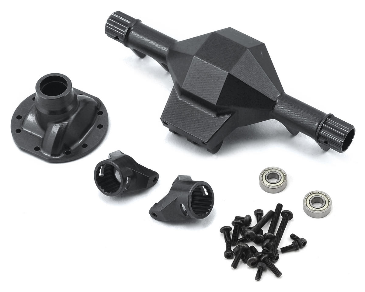 SSD RC Diamond Front SCX10 Axle (Black)