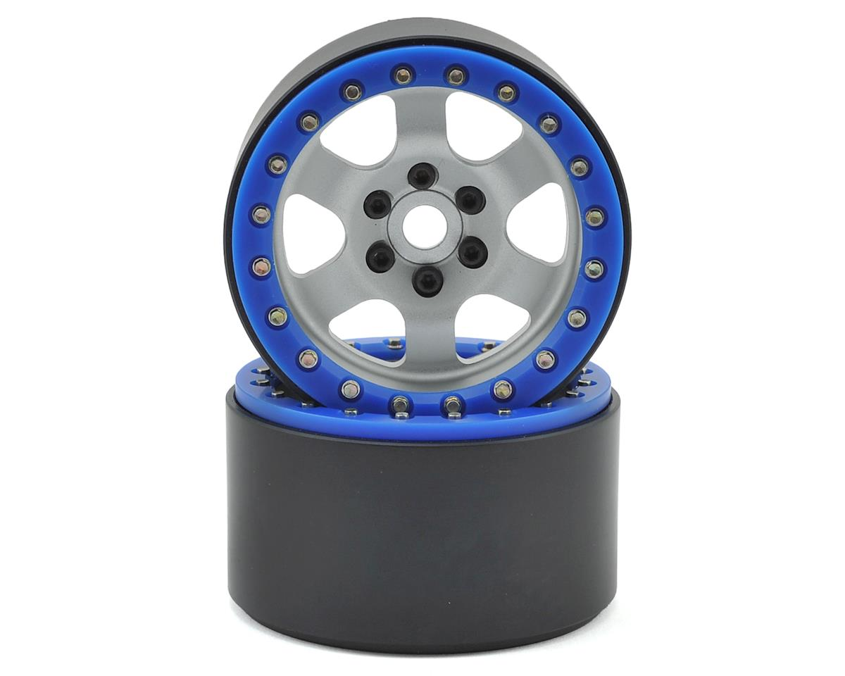2.2 Rock Racer Beadlock Wheels (Silver) by SSD RC