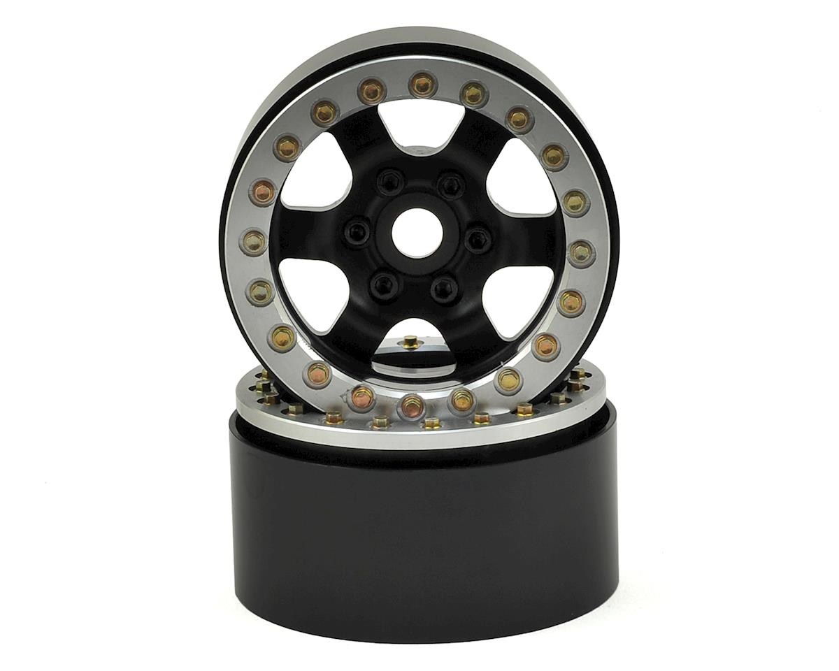 "SSD RC 1.9"" Rock Racer Wheels (Black/Silver) (2)"