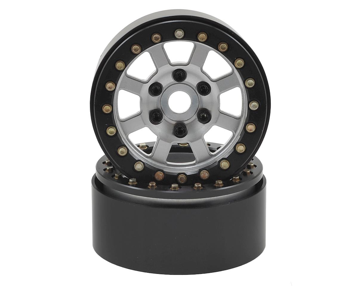 SSD RC Assassin 1.9 Beadlock Crawler Wheels (Silver) (2)