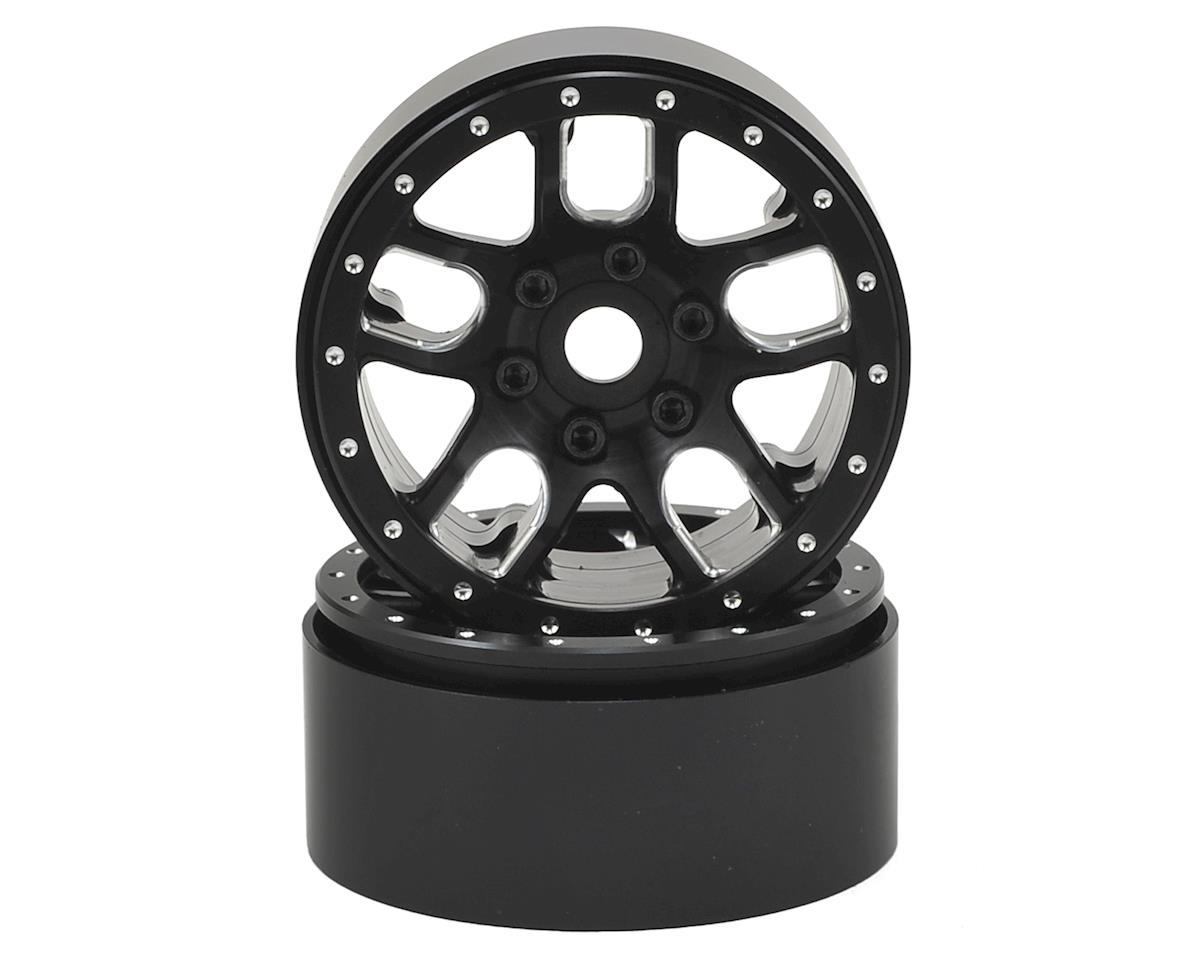 "SSD RC 1.9"" Double Time Beadlock Wheels (Black) (2)"