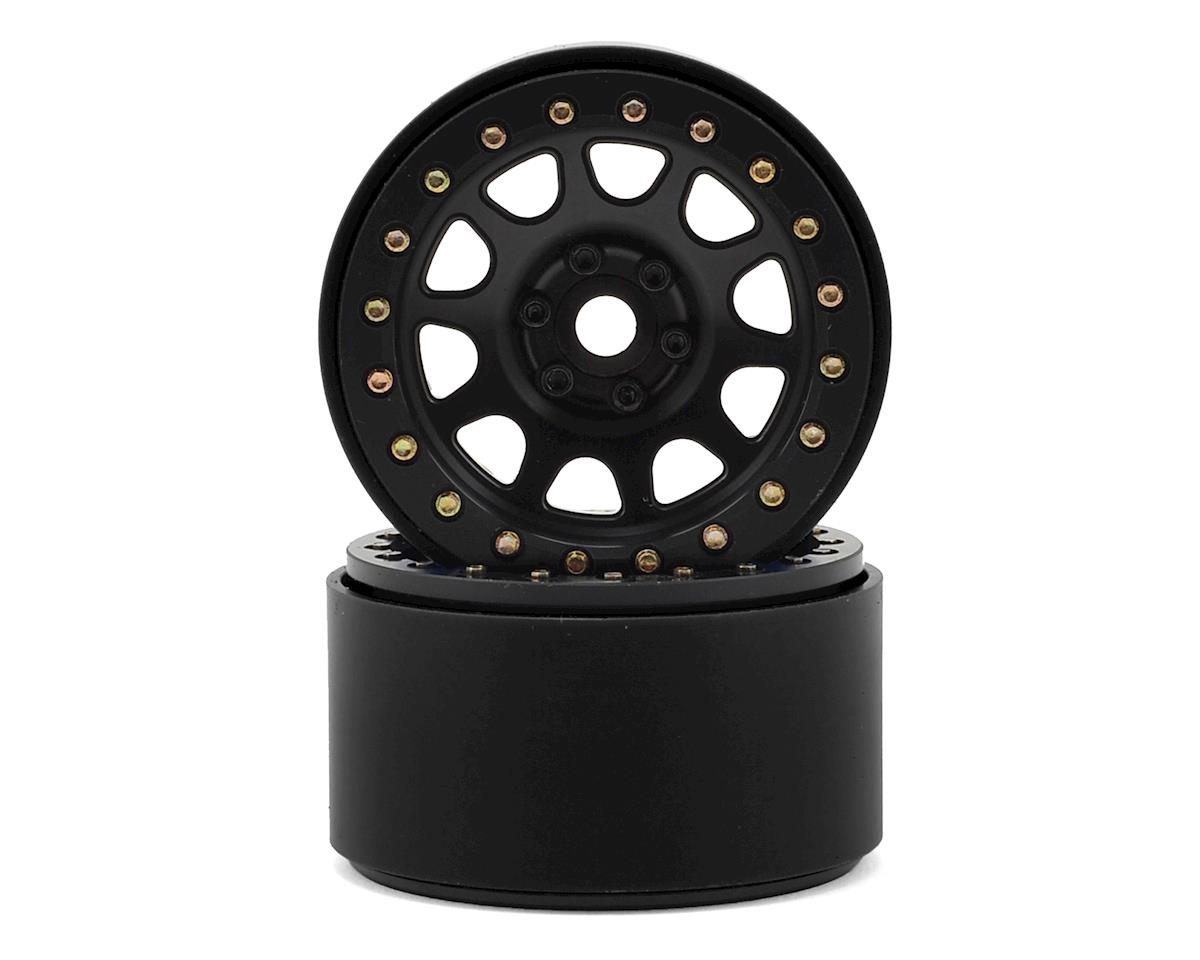 "2.2"" D Hole Beadlock Wheels (Black) (2) by SSD RC"
