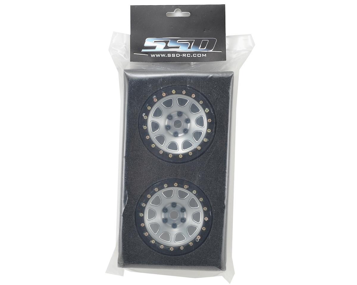 "2.2"" D Hole Beadlock Wheels (Silver) (2) by SSD RC"