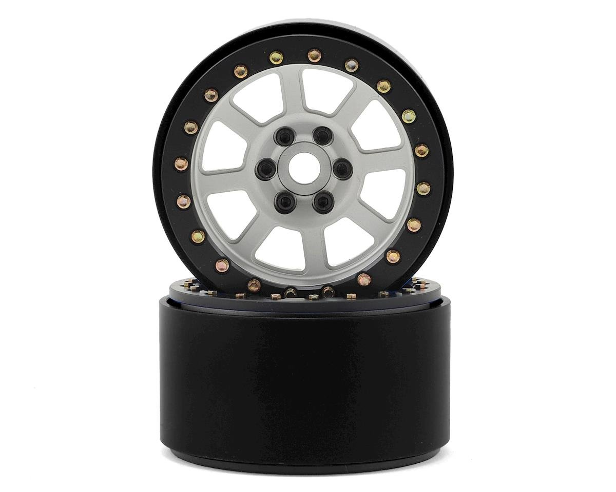 "SSD RC 2.2"" Wide Assassin Beadlock Wheels (Silver) (2)"