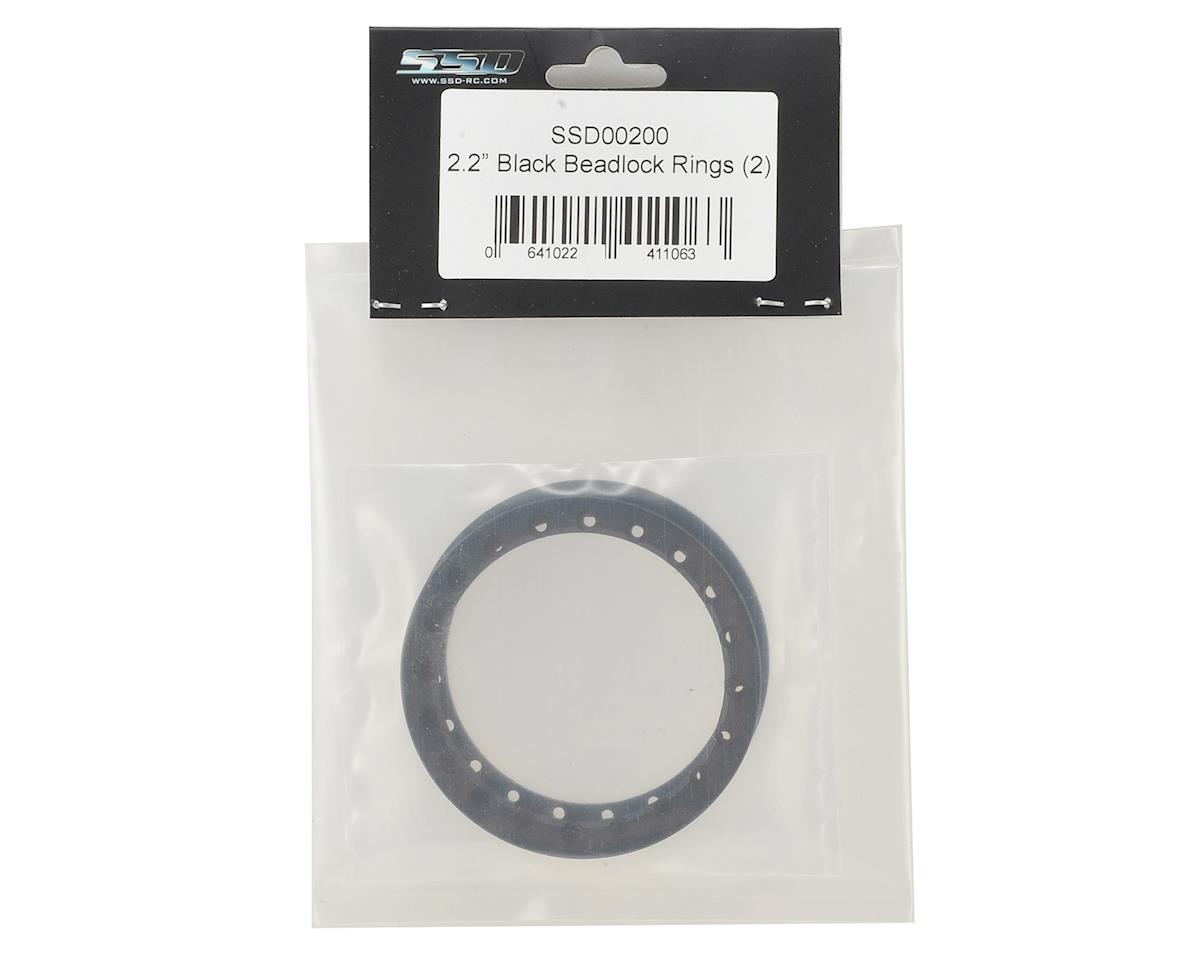 "SSD RC 2.2"" Black Beadlock Rings (2)"