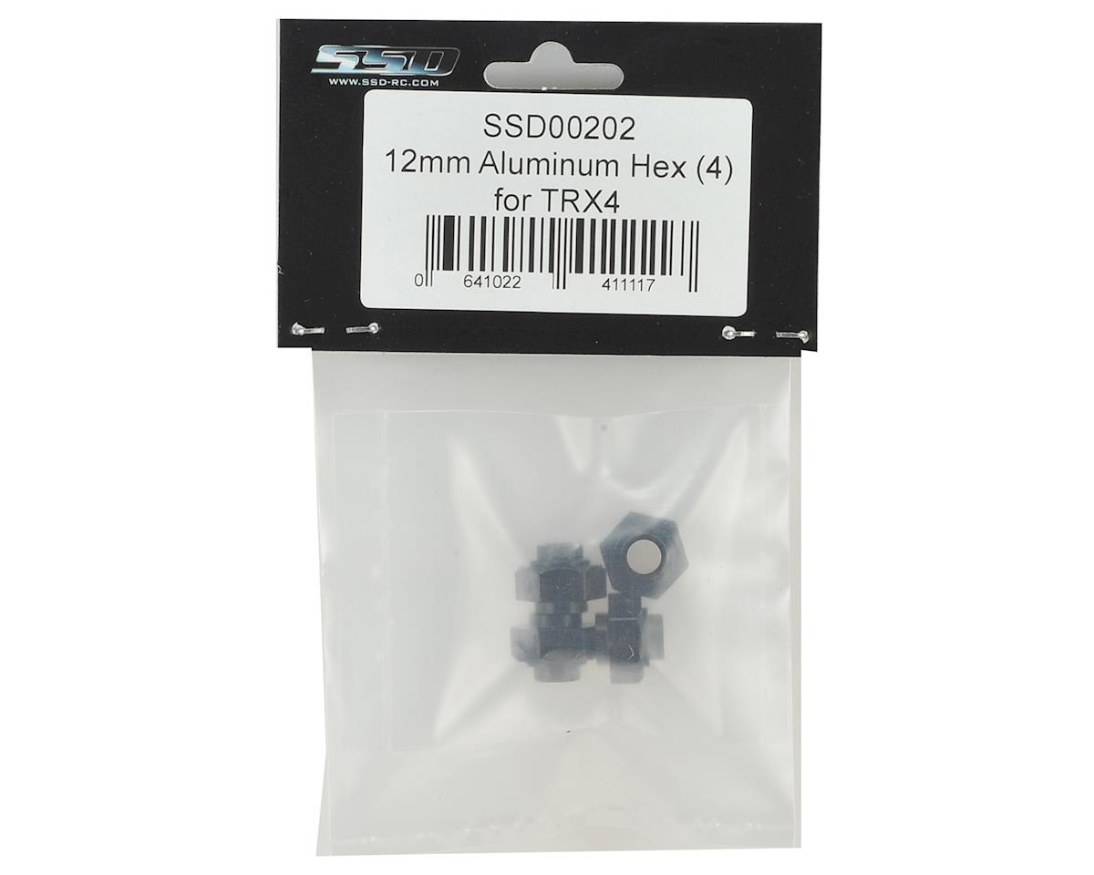 SSD RC TRX4 12mm Aluminum Hex Set (4)