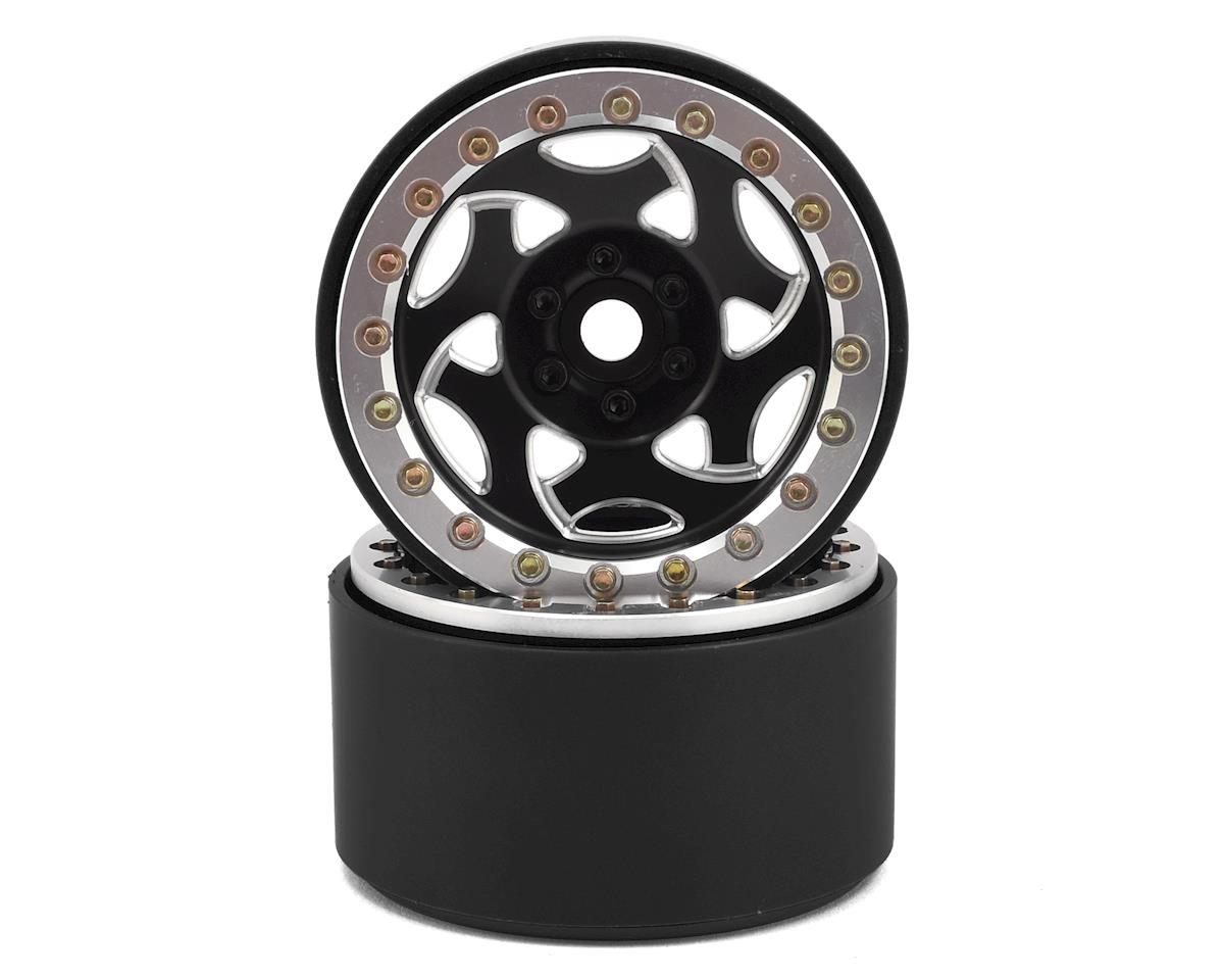 "2.2"" Champion Beadlock Wheels (Black/Silver) by SSD RC"