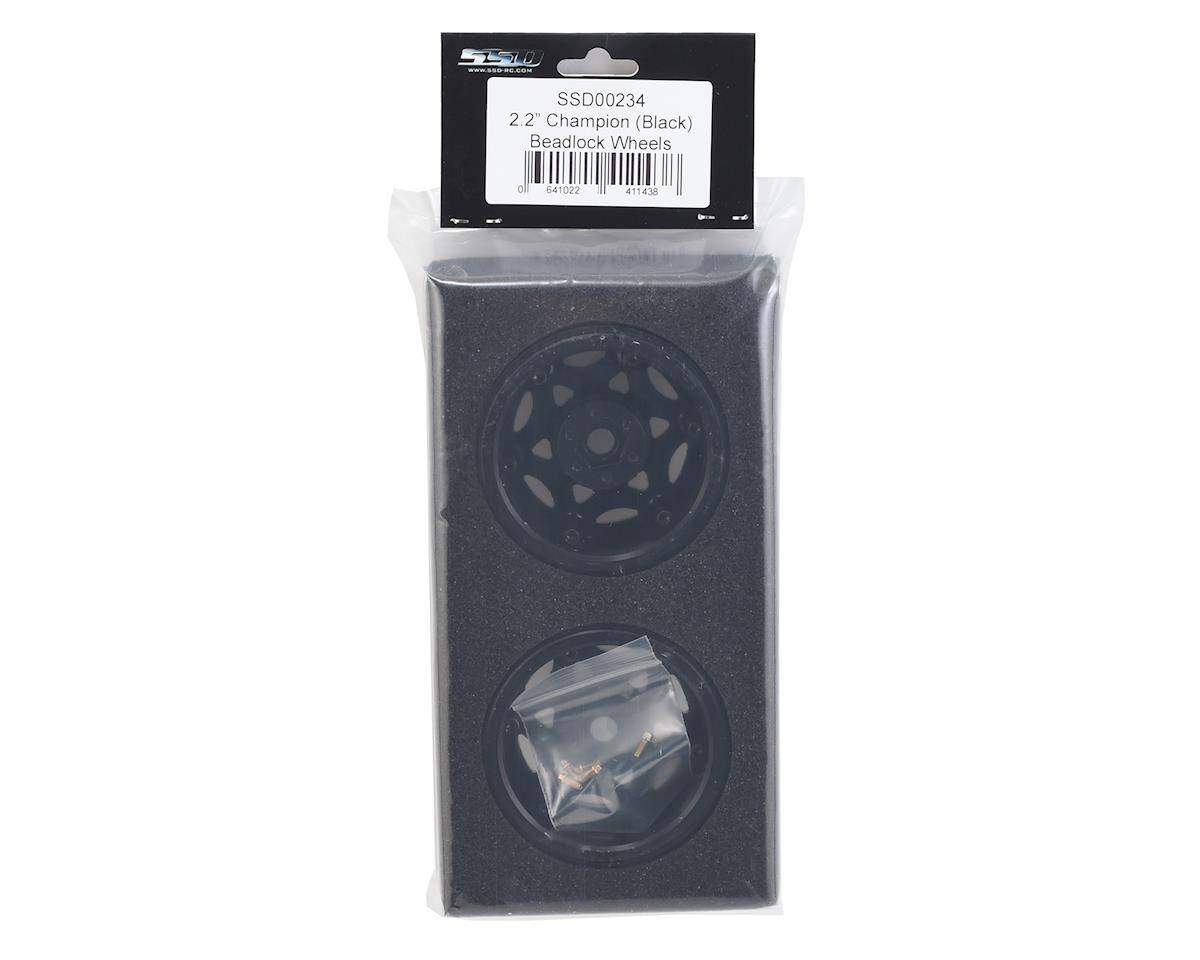 "SSD RC 2.2"" Champion Beadlock Wheels (Black/Silver)"